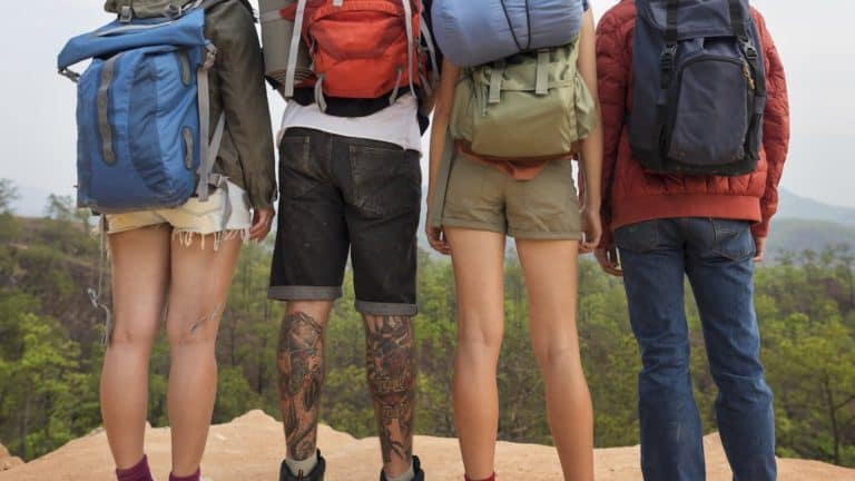 backpacking friends