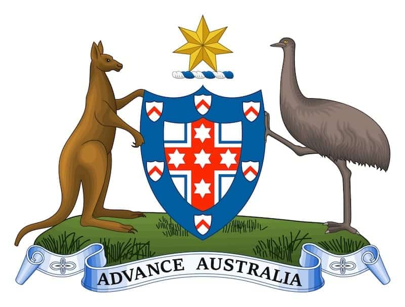 aussie food - australian coat of arms