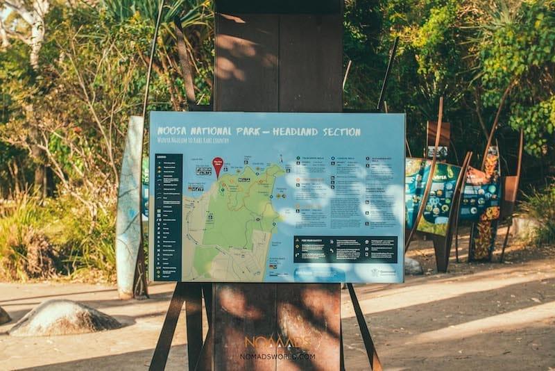 noosa heads coastal walk sign