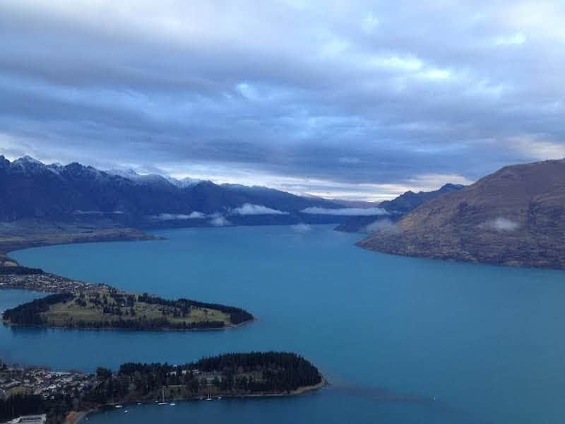 view from gondola of queenstown