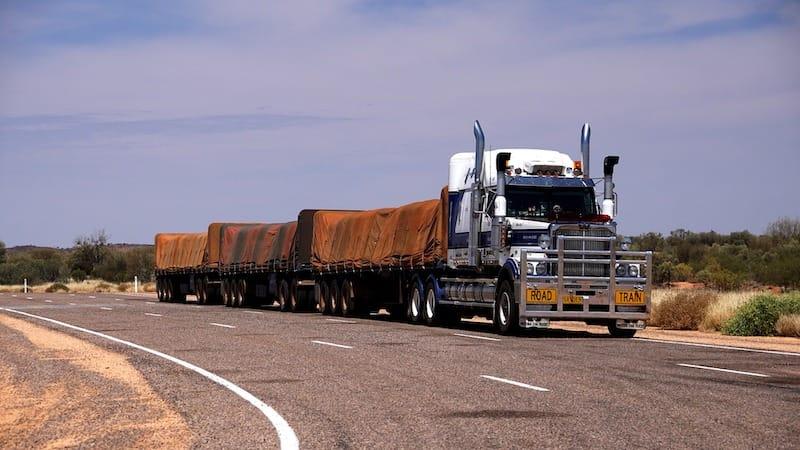 driving in australia - road trains