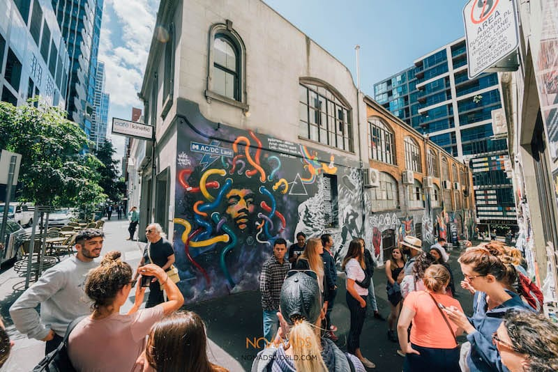 free things to do in melbourne - laneway graffiti