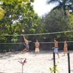 beach volleyball at backpackers cairns