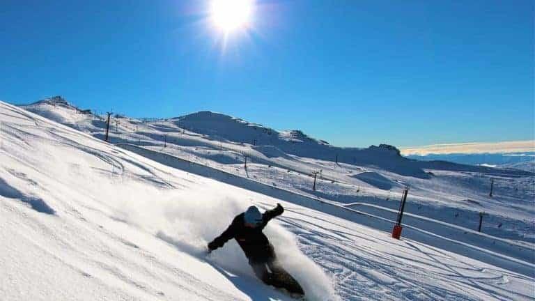 snowboarding queenstown - cardrona