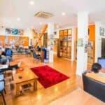 nomads auckland hostel communal lounge