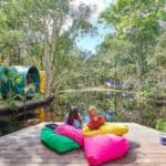 relax by the lake at byron bay hostel