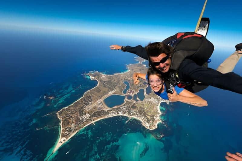 skydiving on rottnest island